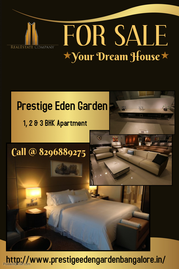 Prestige eden garden is a new real estate project.