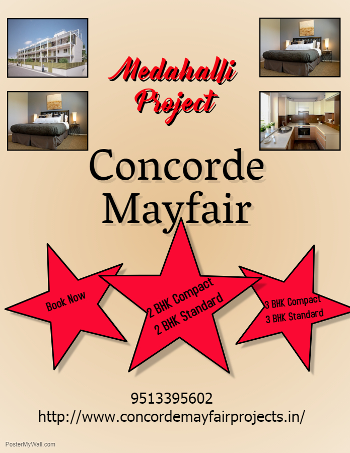 Concorde Mayfair project in medahalli bangalore.